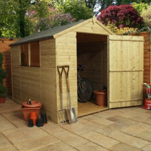 Pressure Treated Apex Shed 8×6