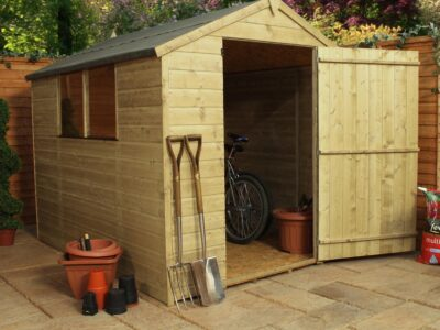 8x6 pressure treated apex shed