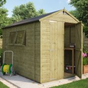 Pressure Treated Apex Shed