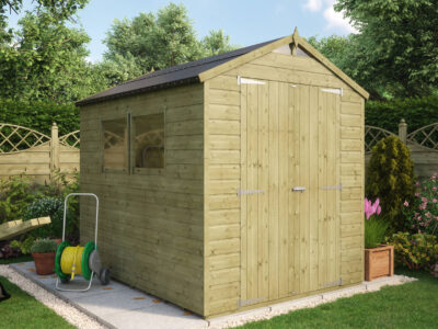 8x6 pressure treated shed