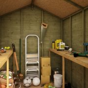 Pressure Treated Apex Shed Inside