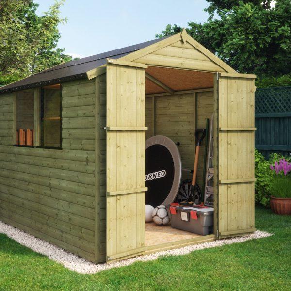 loglap 8x6 garden shed