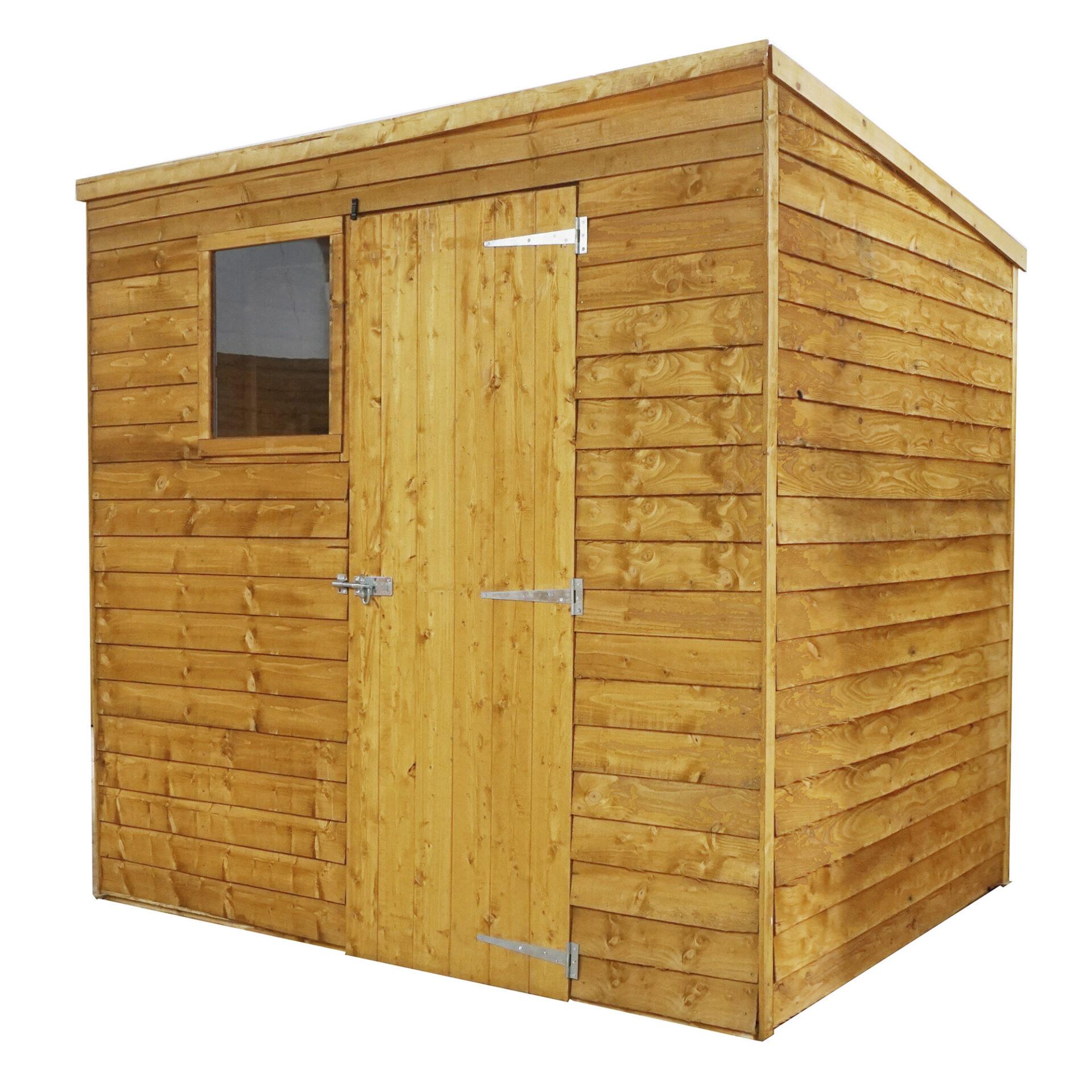 7x5 overlap pent sheds