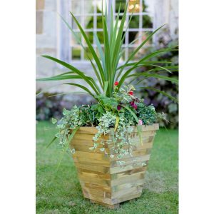 Elite Wooden Tapered Planter