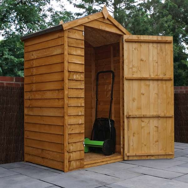 4x3 Overlap Apex Shed - Overlap Small Storage Shed