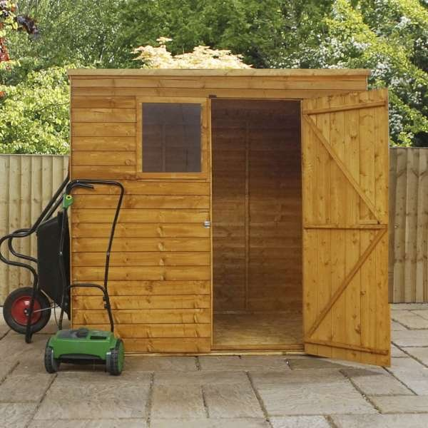 10×6 Pent Shed Overlap Cladding