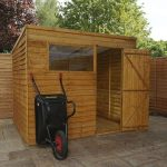 8 x 6 Overlap Pent Shed