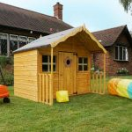 double level playhouse with porch