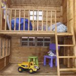 double level playhouse inside