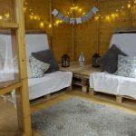 Corner Cabin with double doors inside