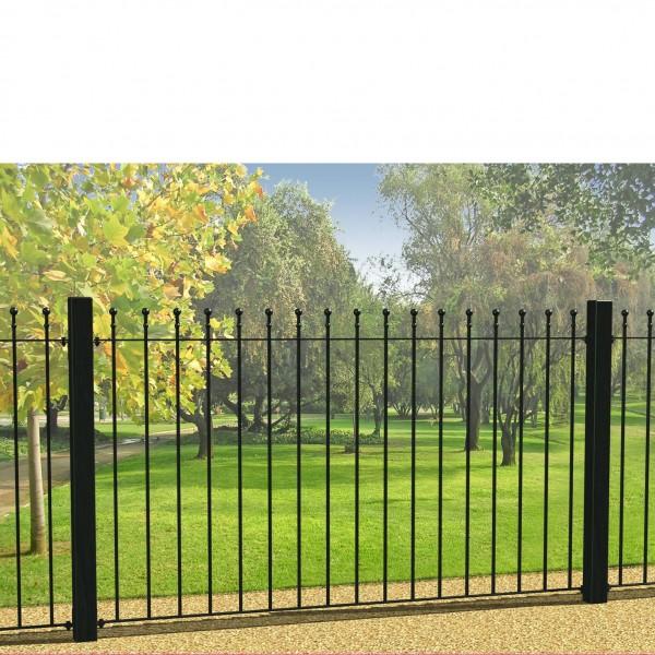 ball top metal fence