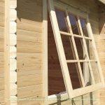 corner cabin shed window