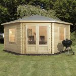 corner log cabin shed