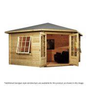 corner cabin log cabin shed