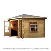 corner cabin log cabin