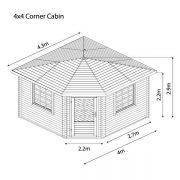 corner cabin shed