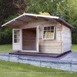 apex cabin with overhang built