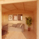 apex cabin with overhang inside