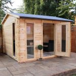 studio log cabin corner