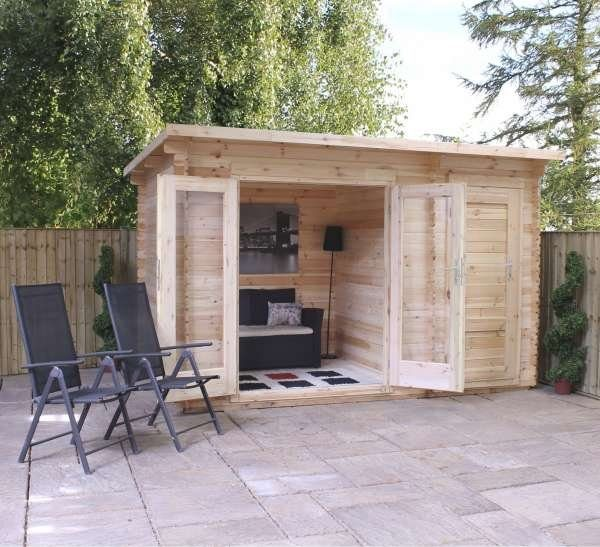 Delamere Log Cabin shed
