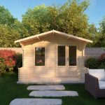 studio log cabin with porch