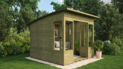 pressure treated v dipped sheds